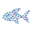 Simple plain style big fish mosaic vector image vector image