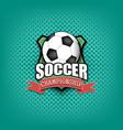 soccer logo template design vector image