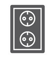 socket glyph icon electricity and voltage power vector image