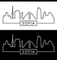 sofia skyline linear style editable file vector image vector image