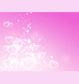 soft pink romance background for greeting card vector image vector image