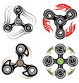 spinner logo and labels vector image