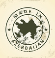 Stamp with map of Azerbaijan vector image