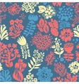 Stylish floral seamless background Vintage vector image vector image
