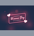 stylish happy womens day lovely background vector image