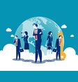 team leader concept business vector image vector image