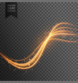 transparent light effect with trails and sparkles vector image vector image