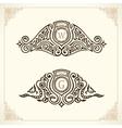 Vintage gold logo set Flourishes crest vector image vector image
