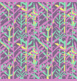 military pixelate seamless pattern with grass vector image