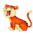 Tiger cartoon roaring vector image