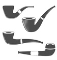 Smoking pipes isolated on white background vector image