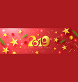 2019 happy new year universal red vector image vector image