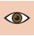 abstract eye icon brown vector image vector image
