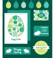 abstract green circles set of Easter cards vector image vector image