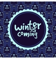 Abstract winter frame pattern vector image vector image