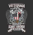 american veteran wings and gun vector image vector image