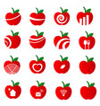 apple icon set on white background vector image vector image