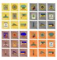 assembly flat shading style icon ukraine vector image vector image