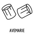 avemarie pasta icon outline style vector image vector image