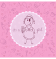 Baby card Its a girl theme vector image vector image