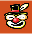 bad clown face vector image vector image