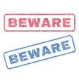 beware textile stamps vector image vector image
