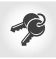 black keys icon vector image vector image
