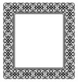 black openwork frame vector image vector image