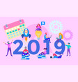 business planning on the eve of the new year vector image vector image