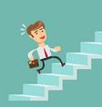 businessman going up vector image