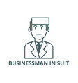 businessman in suit line icon businessman vector image vector image