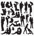 carrying basilhouettes vector image vector image