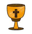 catholic cross chalice vector image vector image