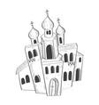 christian orthodox church hand drawn sketch vector image