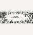 christmas banner design frame with hand sketched vector image vector image