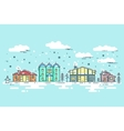 Cityscape in winter vector image vector image