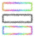 Colorful and monochrome sketch banner frame set vector image vector image