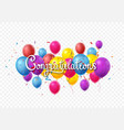 congratulations sign letters banner with colorful vector image vector image