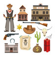 cowboy template flat colorful sign symbols vector image vector image