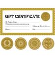 dark gold certificate frame vector image vector image