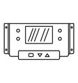 digital panel icon outline style vector image vector image