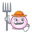 farmer cut in half slice onion cartoon vector image