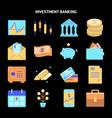 finance and money icon collection in flat style vector image vector image