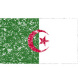 Flag of Algeria with old texture vector image