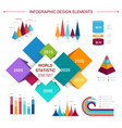 flat infographics elements template vector image vector image