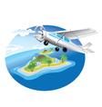 flying plane vector image vector image