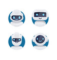 future chat bot set vector image vector image