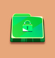 green folder with a lock anti-virus protection vector image