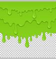 green sticky liquid seamless element vector image
