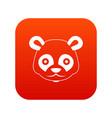 head of panda icon digital red vector image vector image